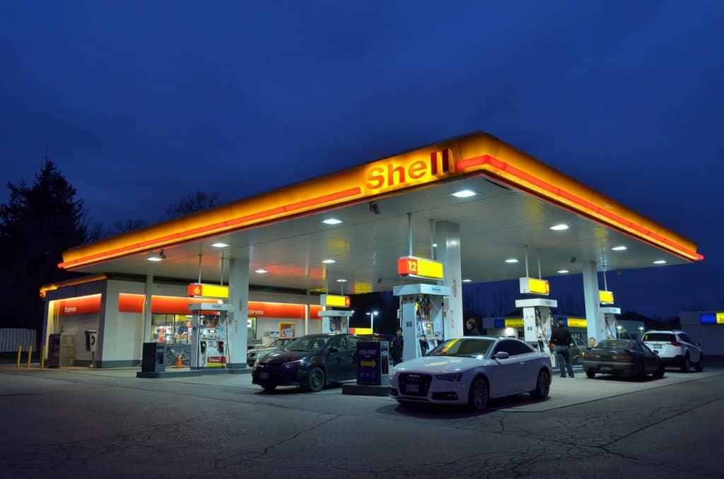 Tankstation in Duitsland