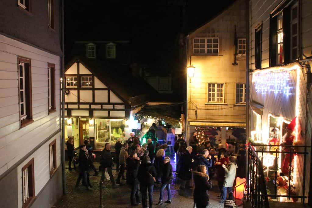 Kerstmarkten in Monschau