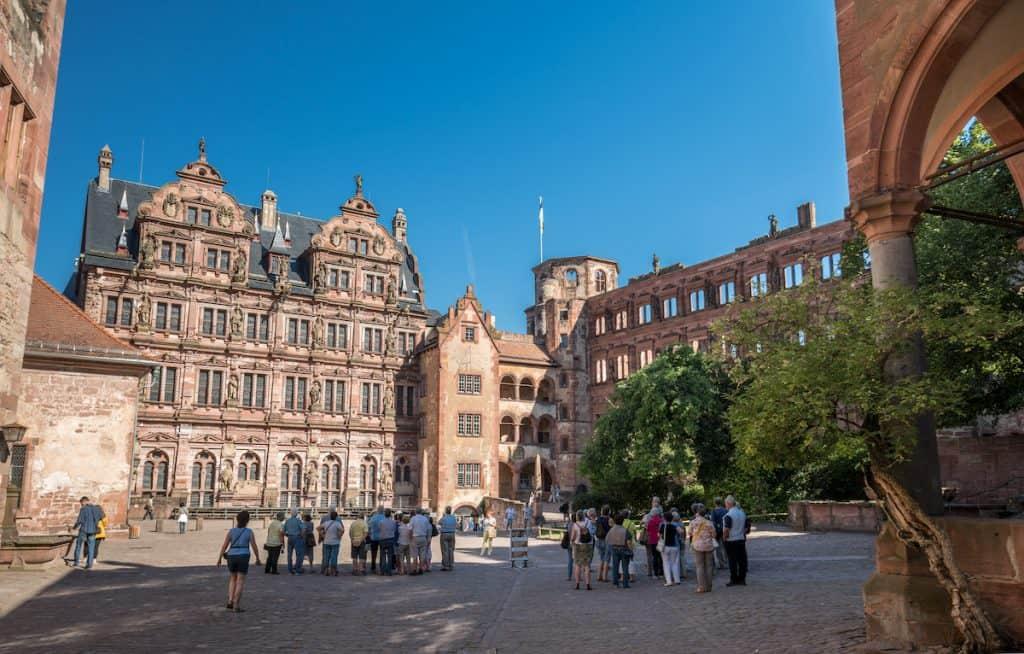 Binnenhof Schloss Heidelberg
